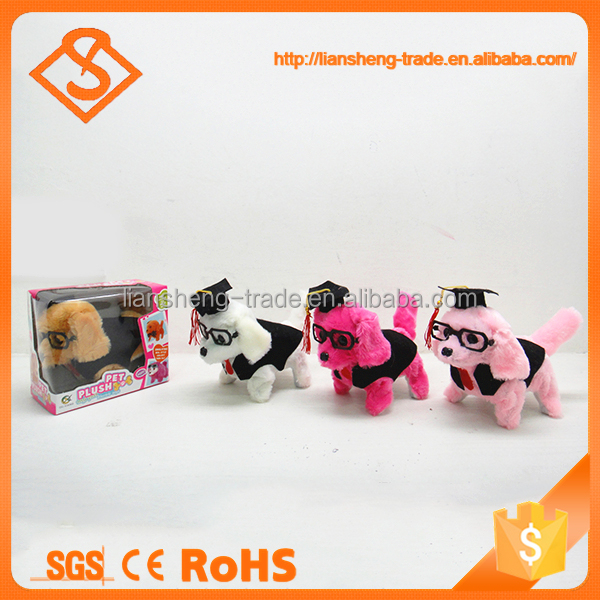 New design cute walking design cheap battery operated walking dog toy