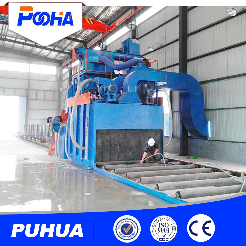 conveyor bead shot blasting machine electric rust protection device