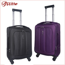 Pull Rod Huge Capacity Polyester Fabric Swivel Universal Wheels Luggage