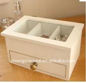 2014 elegant promotional unfinished wood jewelry boxes wholesale