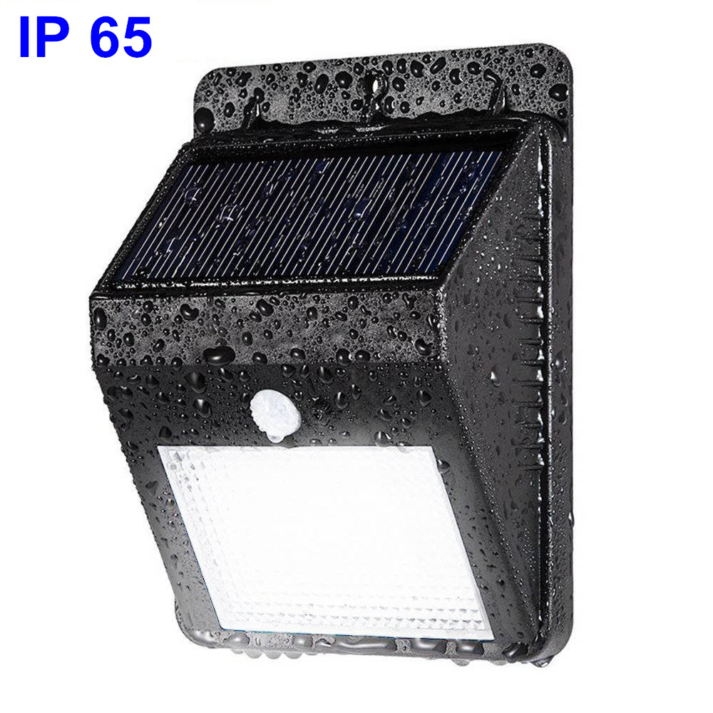 8 LED waterproof IP 65 motion sensor solar night light