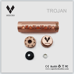 2014 new mech mod original Trojan mod high quality e-cigarette copper mod
