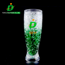 2017 New promotion colorful clear plastic double wall freezer pilsner high drinking cup