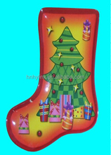24.5*19*1.7cm christmas stocking melamine serving tray with full printing (ITEM NO. CSD1004)