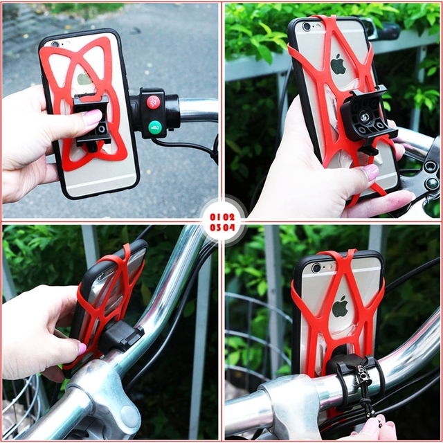 Smartphone Holder Bike Bicycle Handlebar Mobile Phone Mount Holder for Samsung Galaxy Note 7 S7 S6 S5 S4