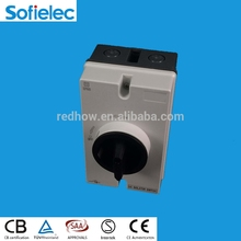Australia hot sale SAA Certified Knock out Type PV DC solar Isolator switch 1000V 25A IP65