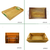 2017New design wooden bamboo tray OEM