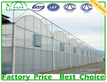 XL Multi-span plastic film greenhouse with green house used rolling benches ebb & flood table
