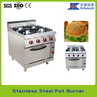 Gas Cooker With Oven, 6 Burners