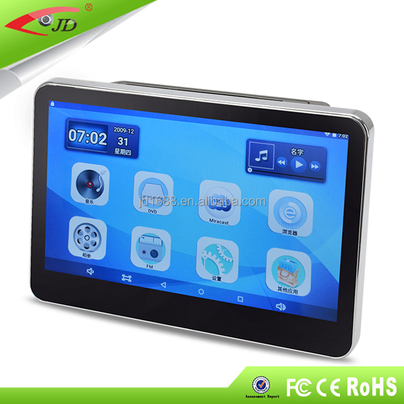 taxi headrest advertising removable wifi android headrest dvd player for car chair