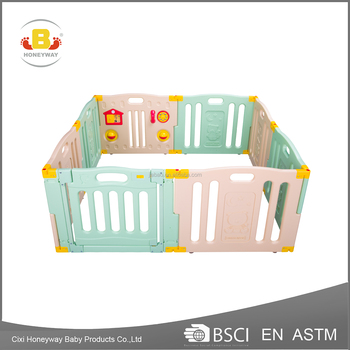 2018 new color plastic large playpen for baby, baby playard with EN and ASTM certificate