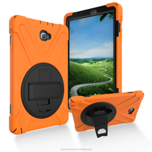 Heavy duty 360 rotating handstrap drop resistant tablet case for samsung Tab P580 10.1 inch protective bag