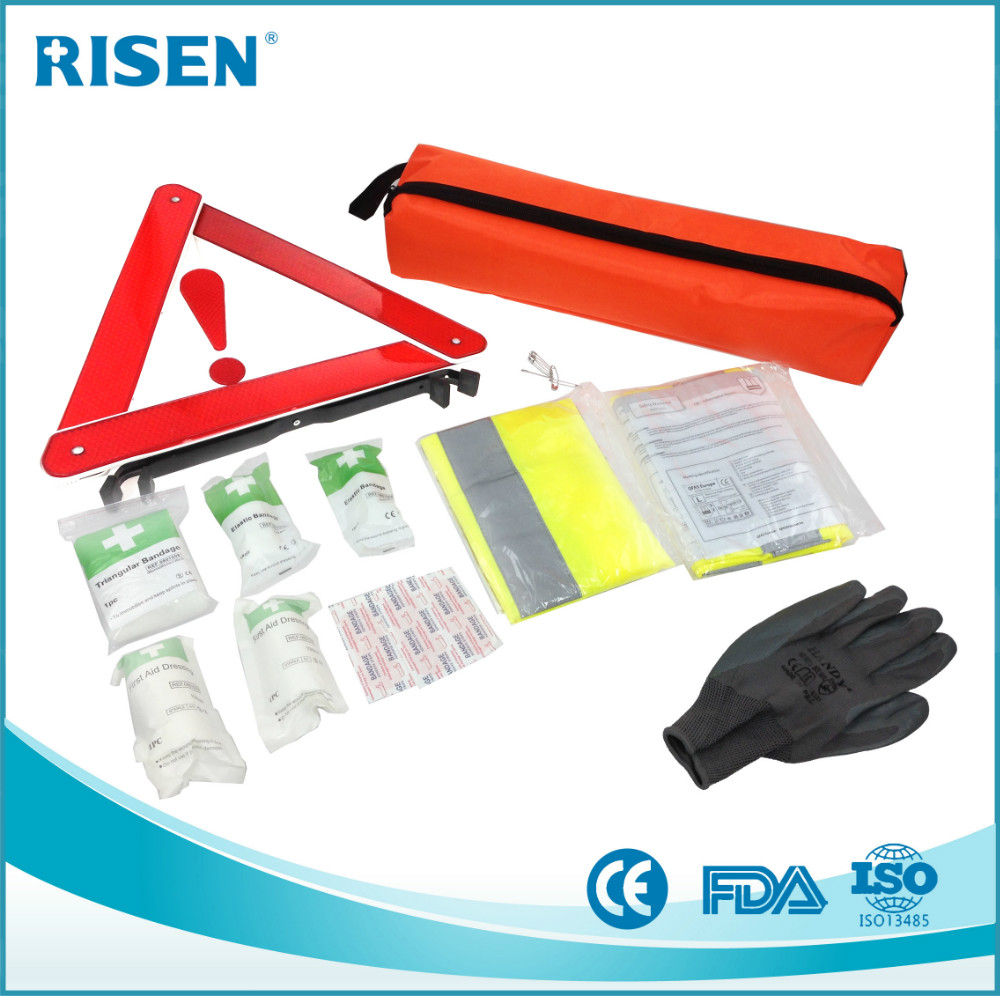 car first aid kit/roadside emergency kit/din13164 first aid kit