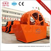 Efficient construction gravel &sand rotating drum type washing machine