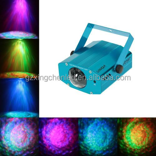 Guangzhou 6W Color Changing Mini LED Water Wave Ripple Effect Stage Light with Controller