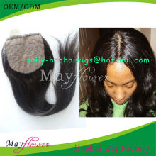 "wholesale human hair silk base closures for bald women natural straight with scalp stock 10""12""14""16""18"""