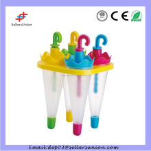 HX170607-1 Funny Umbrella Shape Colorful Popsicle Mould