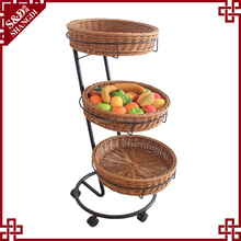 Hot sale multi-functional round eco- friendly artificial fruit basket