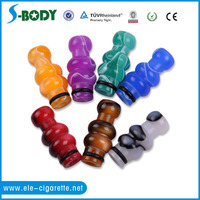 2016 Sbody custom electronic cigarette bunny drip tip plastic colorful drip tip