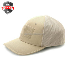 Custom plain blank patch flexfit full back sports baseball caps hats closed mesh back cap
