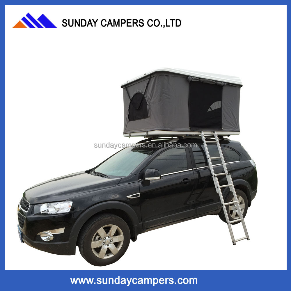NEW Camping luxury safari Hard Shell 4wd Rooftop Car Roof Top Tent