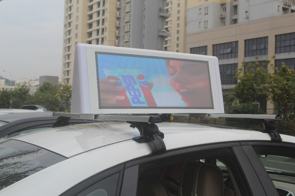 car roof led sign board/ p5 SMD wireless taxi roof sign / xxx movies video taxi top led display