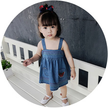 S17071A casual childrens boutique clothing denim child dress