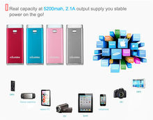 Super fast charge 5200mah portable mobile power bank, portable powerbank, portable charger
