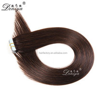 Virgin hair natural black color wholesale tape hair extensions