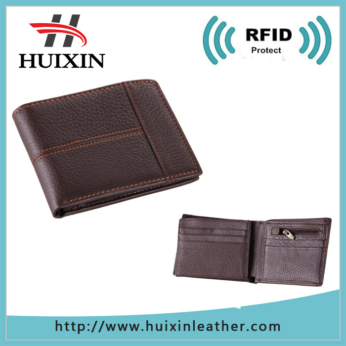 Mens casual genuine cowhide leather wallet purse credit card holder ID business case money clip