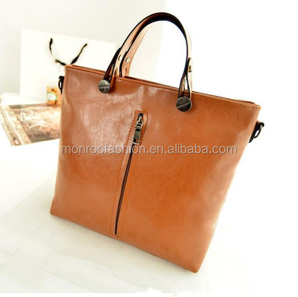 Monroo new style women leather handbag tote bags wholesale handbag leather