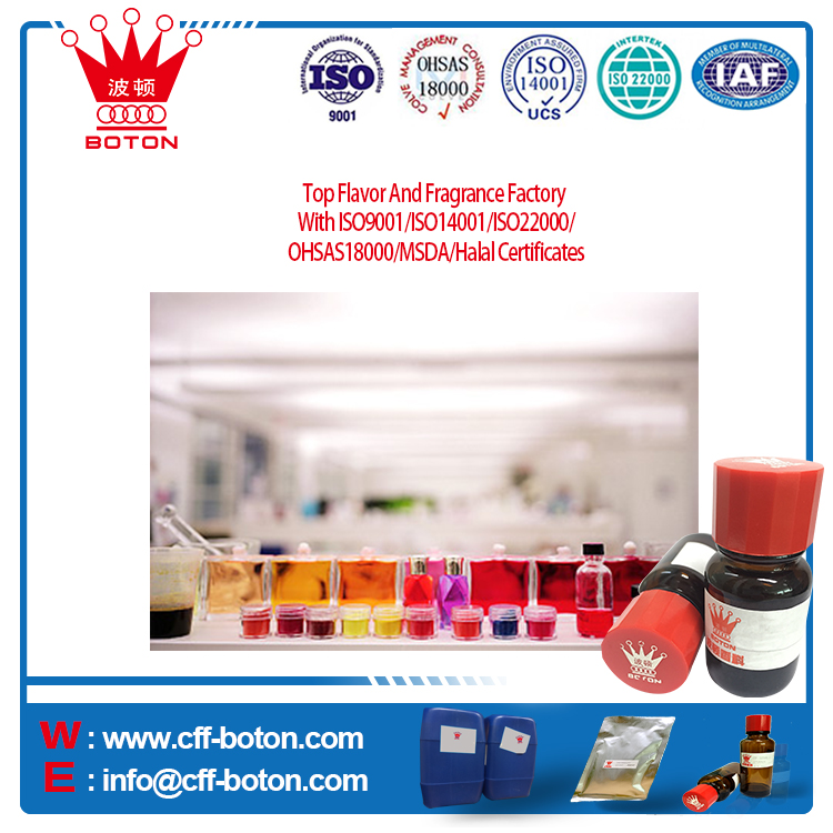 Top Flavor And Fragrance Factory With ISO9001/ISO14001/ISO22000/OHSAS18000/MSDA/Halal Certificates