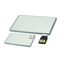 Top Selling Shinny Matt Metal 2GB Credit Card USB Flash Drive flash card