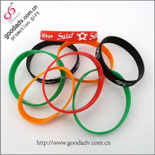 Silicone bracelet glow in the dark wristband / colorful silicone wristband