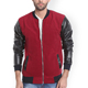 Custom Men's Suede Pu Leather Long Sleeve Cotton Lining Baseball College Bomber Jackets