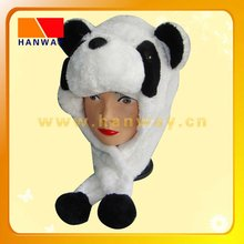 fashion white trooper with fake fur and fleece lining,two round ears