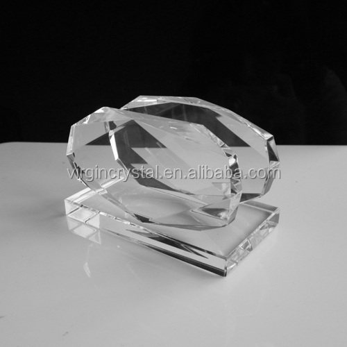 Fashion diamond face glass name card holder business id card holders