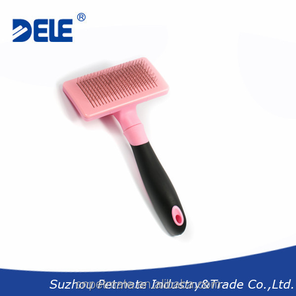 New pet products self-cleaning dog slicker brush deshedding tool and pet grooming brush for dogs
