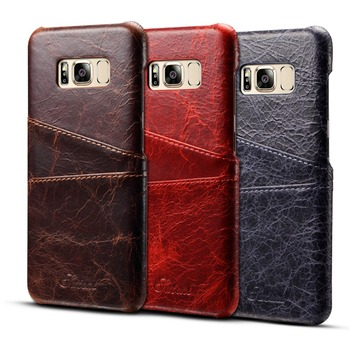 Hot Selling Single Back Protective Leather Cell Phone Case For Samsung Galaxy s8