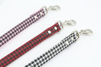 China manufacturer pet lead high quality Printed leather dog leash