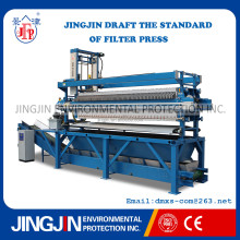 automatic plate and frame press filter for waste water treatment