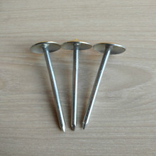 High Quality Galvanized Umbrella Head Roofing Nails with Washer / Twisted Shank Nails