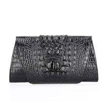 Popular Ladies genuine leather hand bag evening party clutch bags