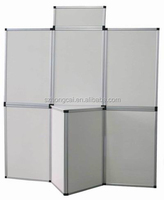 7.5 panels hard pvc wall display stand folding panel
