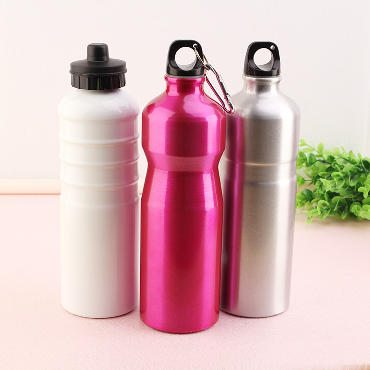 Hot sale 750ml Aluminum Light Water Bottle with normal cap and carabineer
