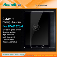 0.33mm 9H Ultra thickness hot selling tempered glass screen protector for ipad 234