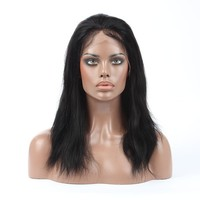 Natural Black African American Favorite Virgin Remy Natural Straight Human Hair Full Lace Pictures Of Wigs For Ladies