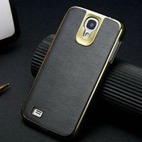 aluminum frame case for galaxy s4, leather phone cover for samsung i9500, Protector case for samsung galaxy s4