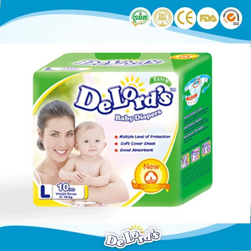 High quality super absorbent cloth like baby diaper for South Korea