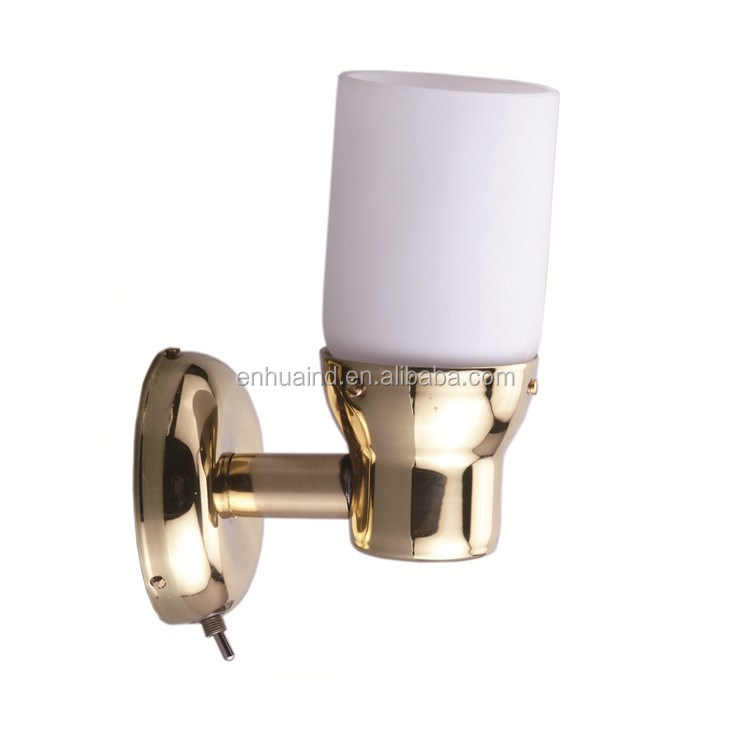 Marine LED Brass & Glass Shade Wall Light 3.1W /8-30VDC